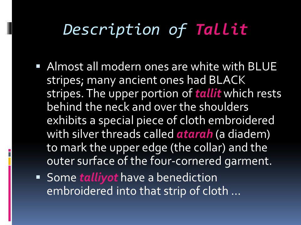 Description of Tallit