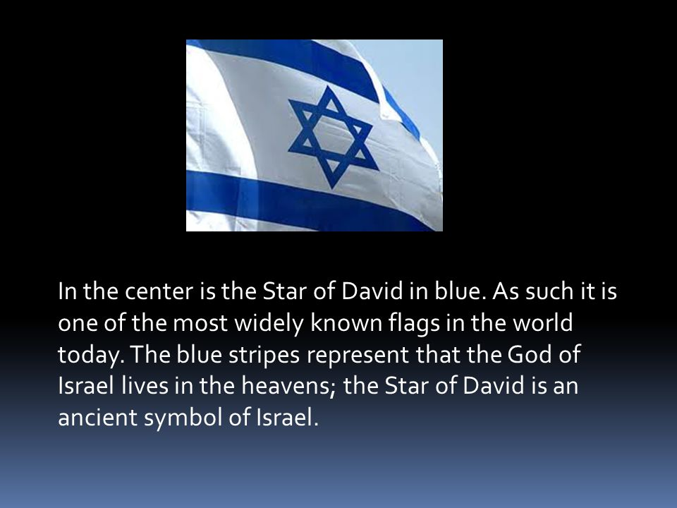 In the center is the Star of David in blue