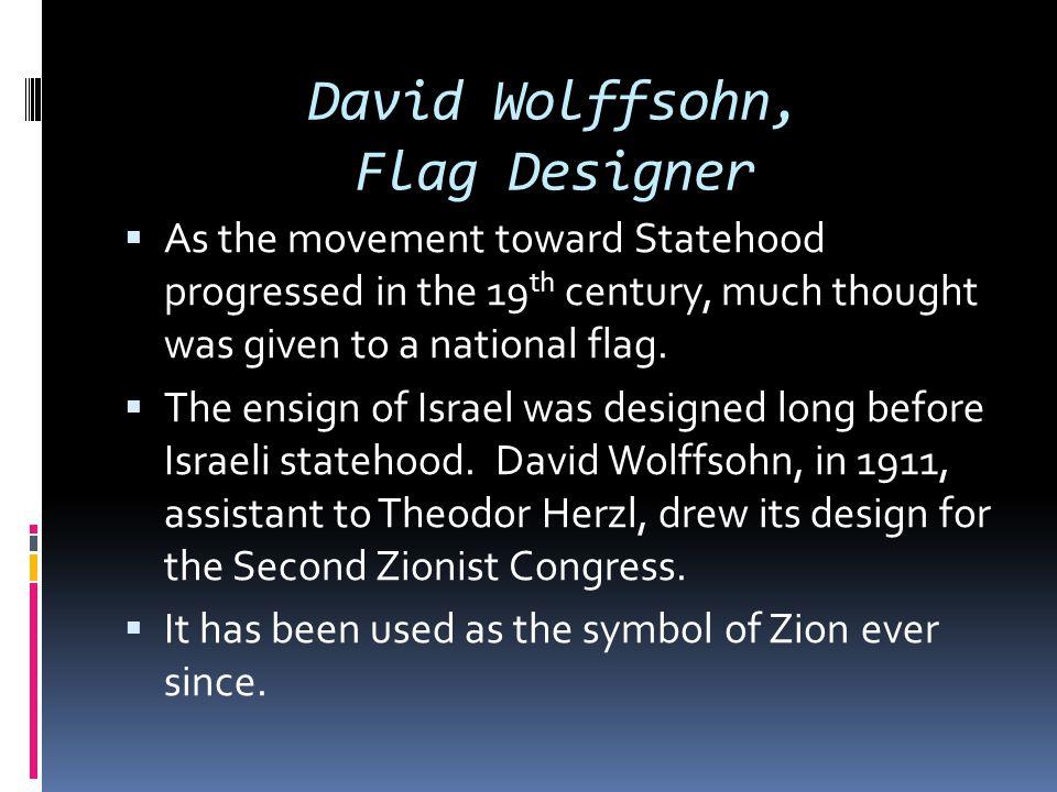 David Wolffsohn, Flag Designer