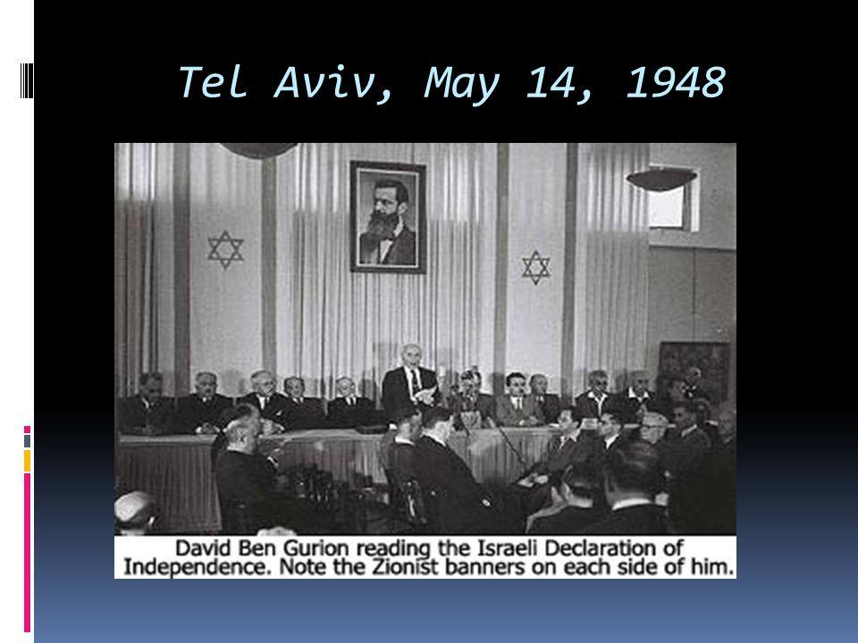 Tel Aviv, May 14, 1948