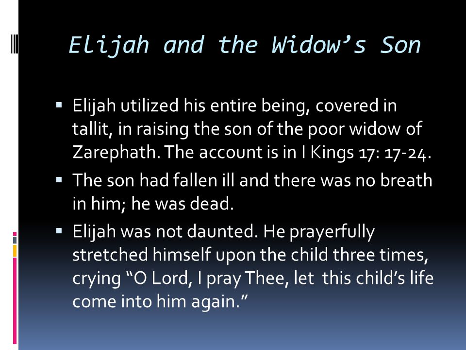 Elijah and the Widow's Son