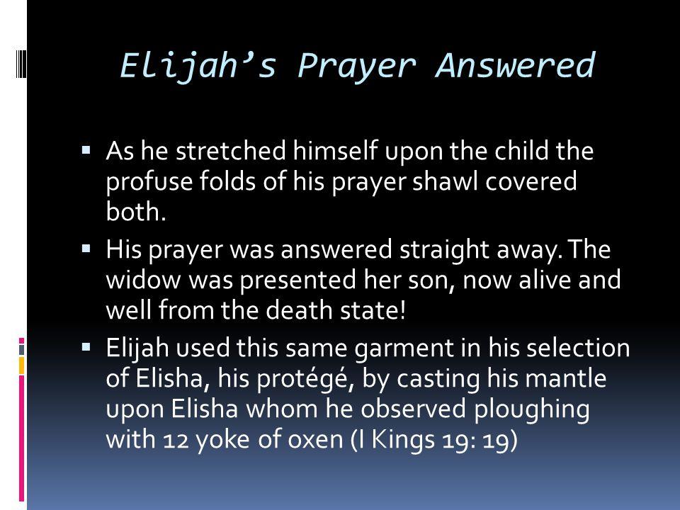 Elijah's Prayer Answered
