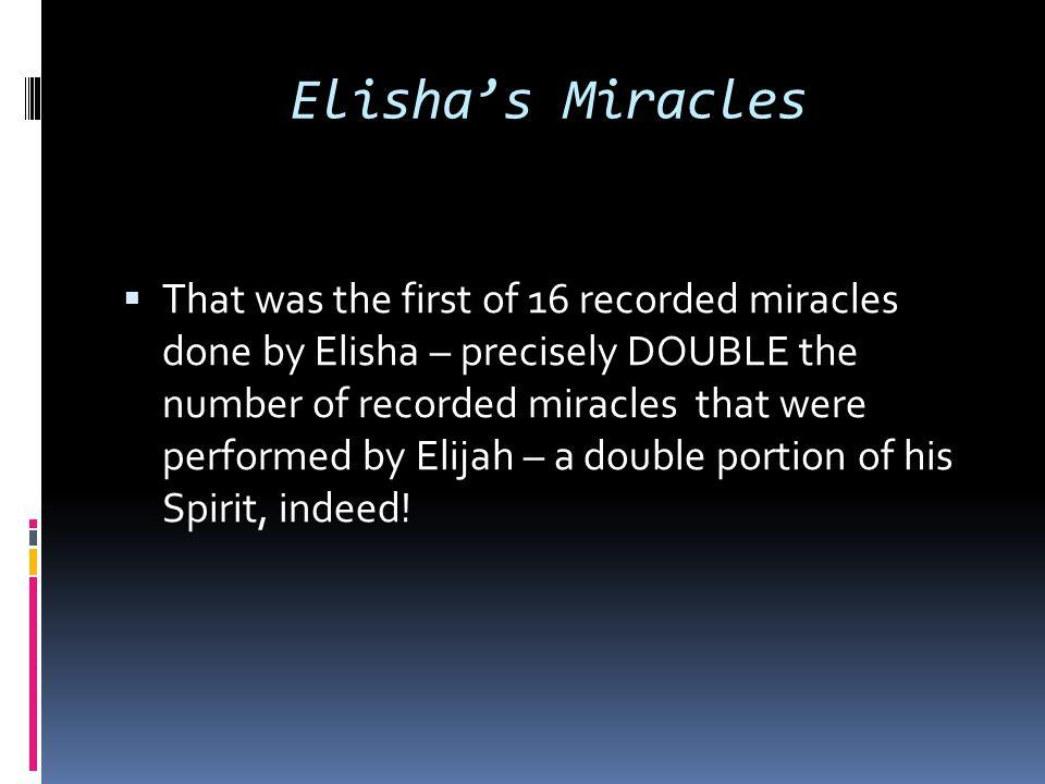 Elisha's Miracles