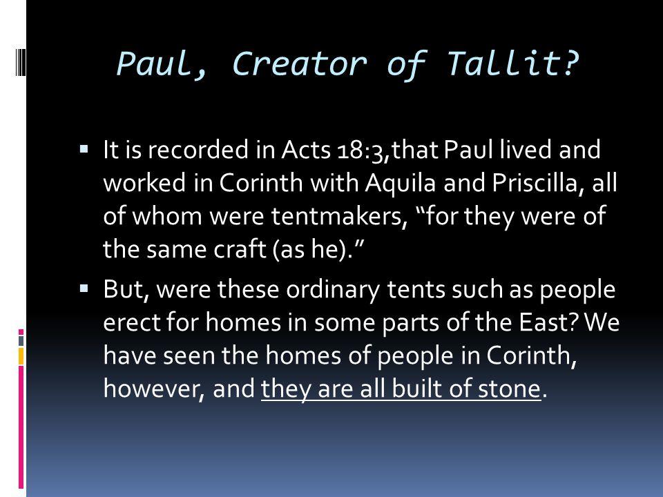 Paul, Creator of Tallit