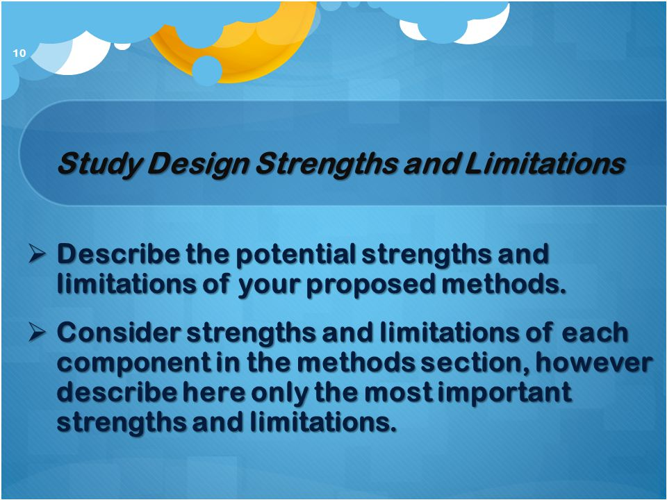 Study Design Strengths and Limitations
