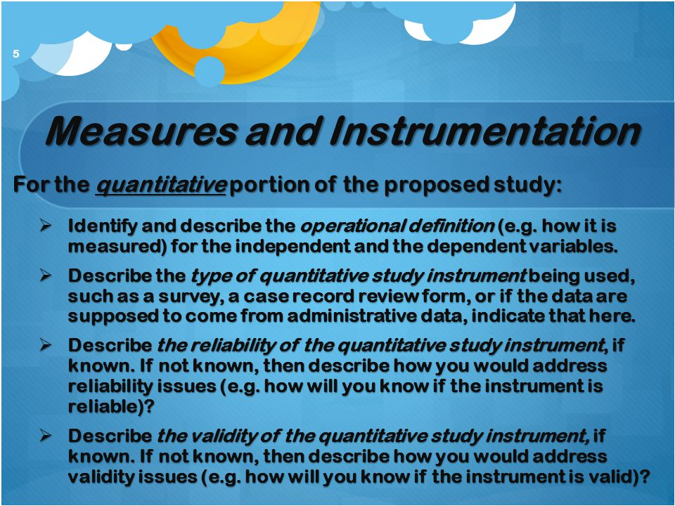 Measures and Instrumentation