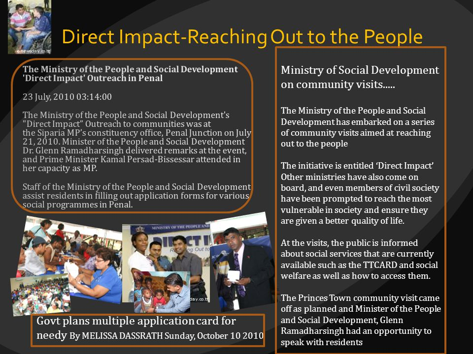 Direct Impact-Reaching Out to the People