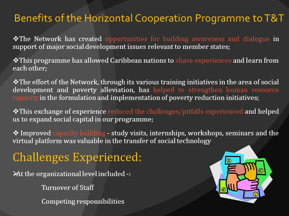 Benefits of the Horizontal Cooperation Programme to T&T