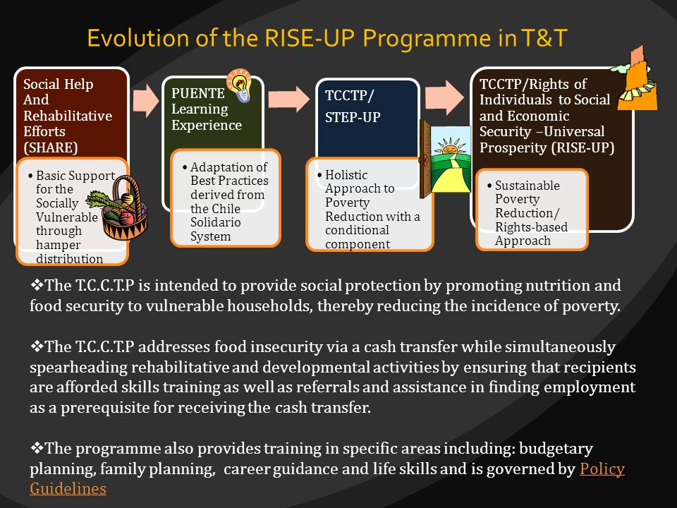 Evolution of the RISE-UP Programme in T&T