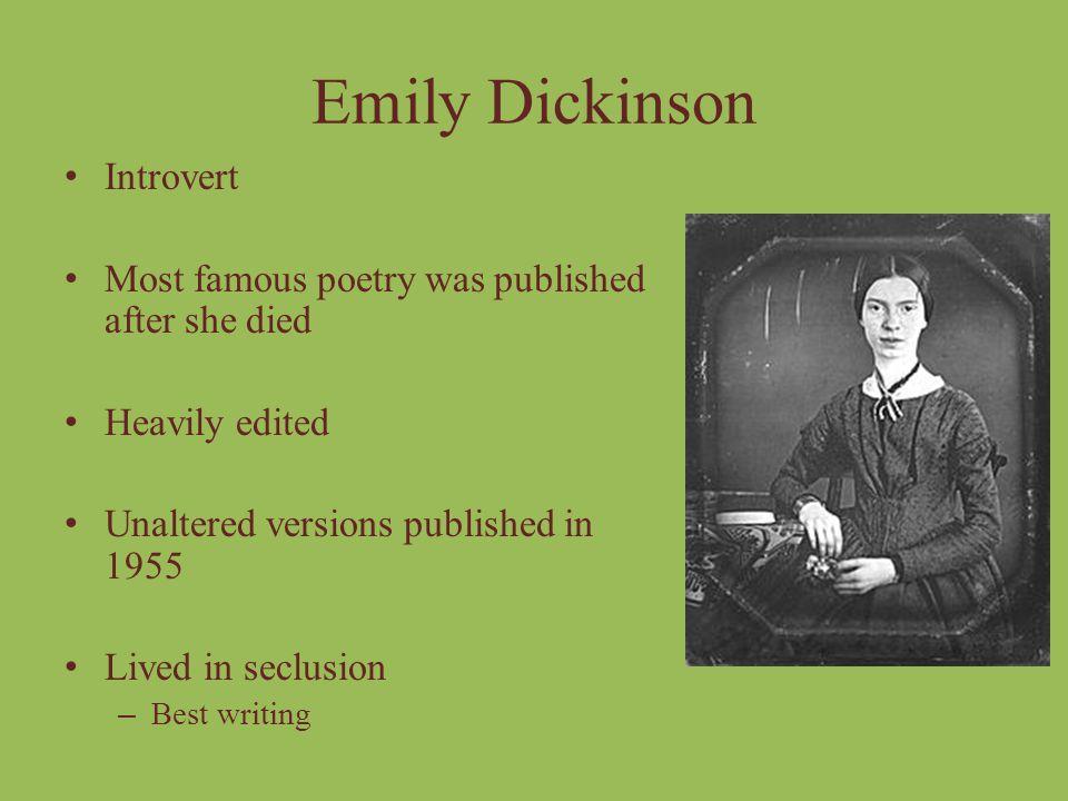 Emily Dickinson Introvert