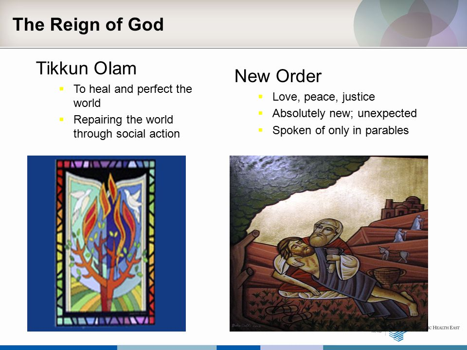 The Reign of God Tikkun OIam New Order To heal and perfect the world