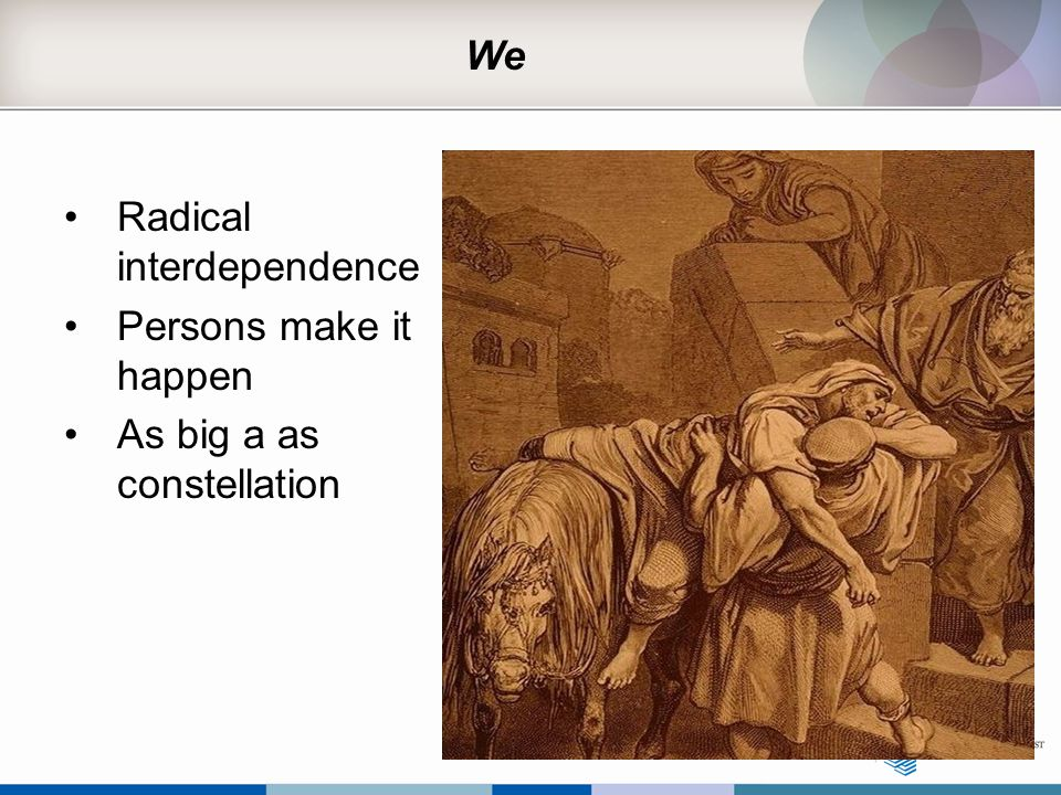 We Radical interdependence Persons make it happen As big a as constellation