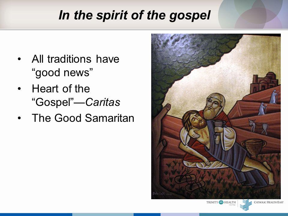 In the spirit of the gospel