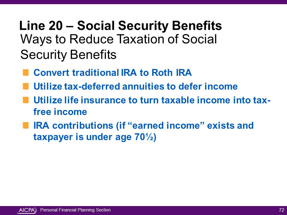 Line 20 – Social Security Benefits