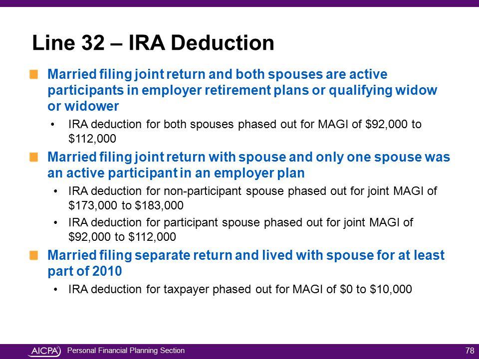 Line 32 – IRA Deduction