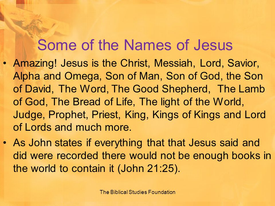 Some of the Names of Jesus