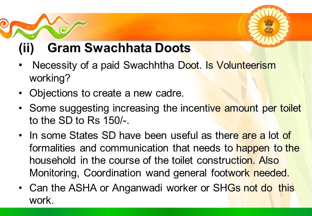 (ii) Gram Swachhata Doots