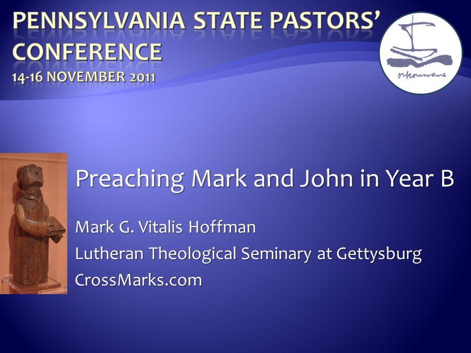 Pennsylvania State Pastors' Conference 14-16 November 2011