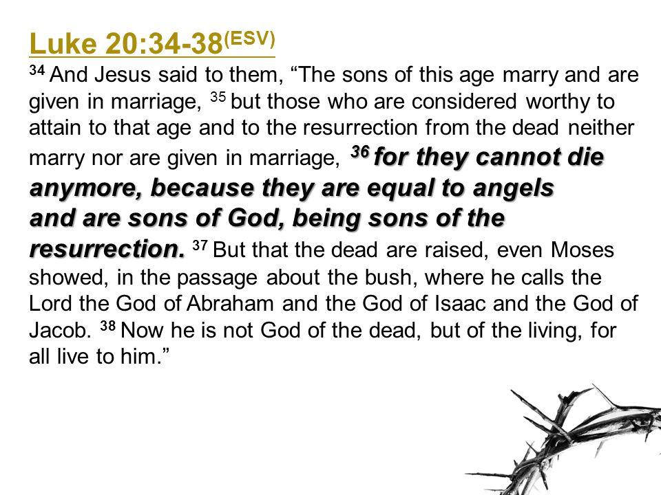 Luke 20:34-38(ESV)