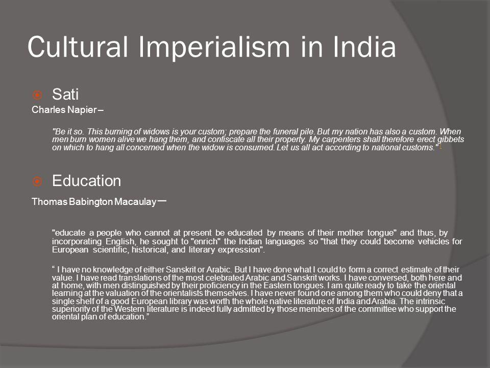 Cultural Imperialism in India