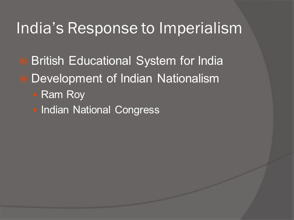 India's Response to Imperialism