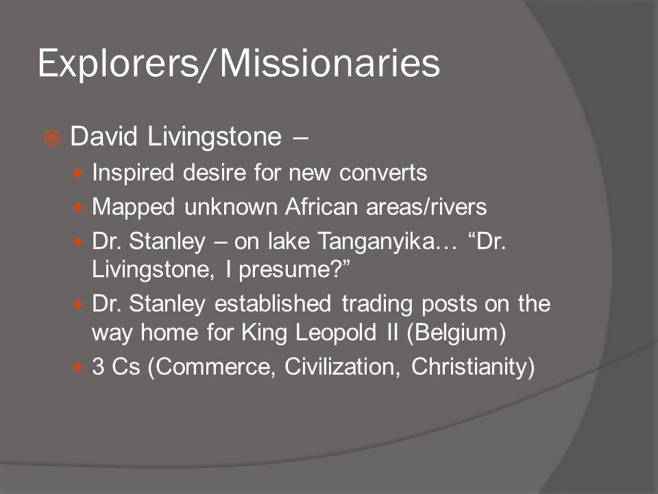Explorers/Missionaries