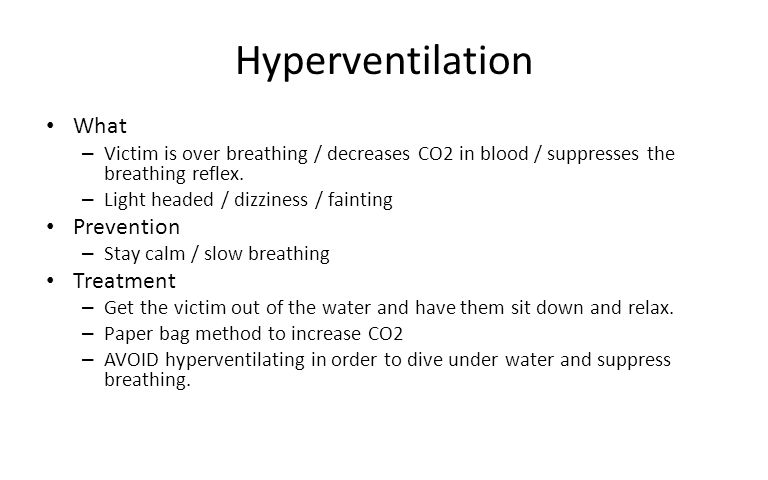 Hyperventilation What Prevention Treatment