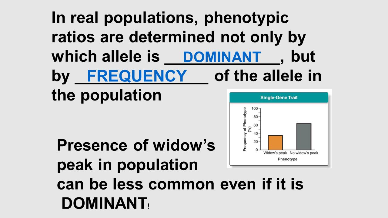 can be less common even if it is DOMINANT!
