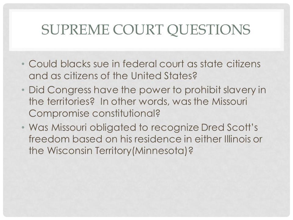 Supreme Court Questions