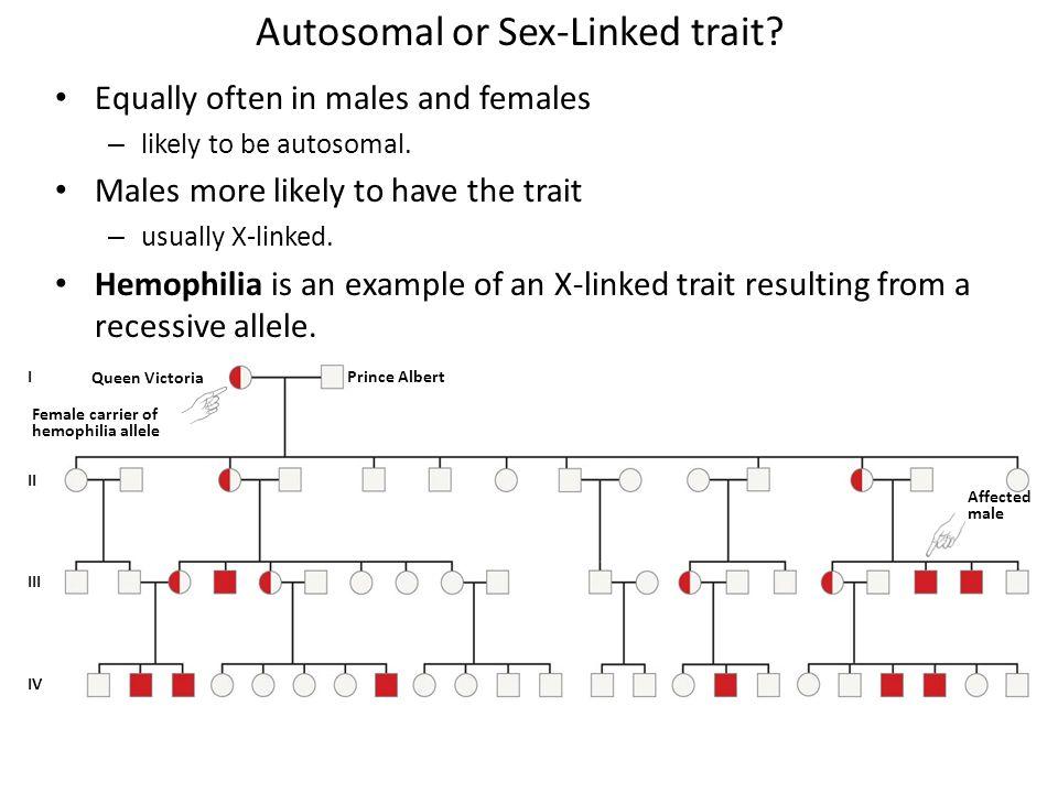 Autosomal or Sex-Linked trait