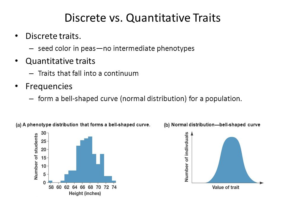 Discrete vs. Quantitative Traits