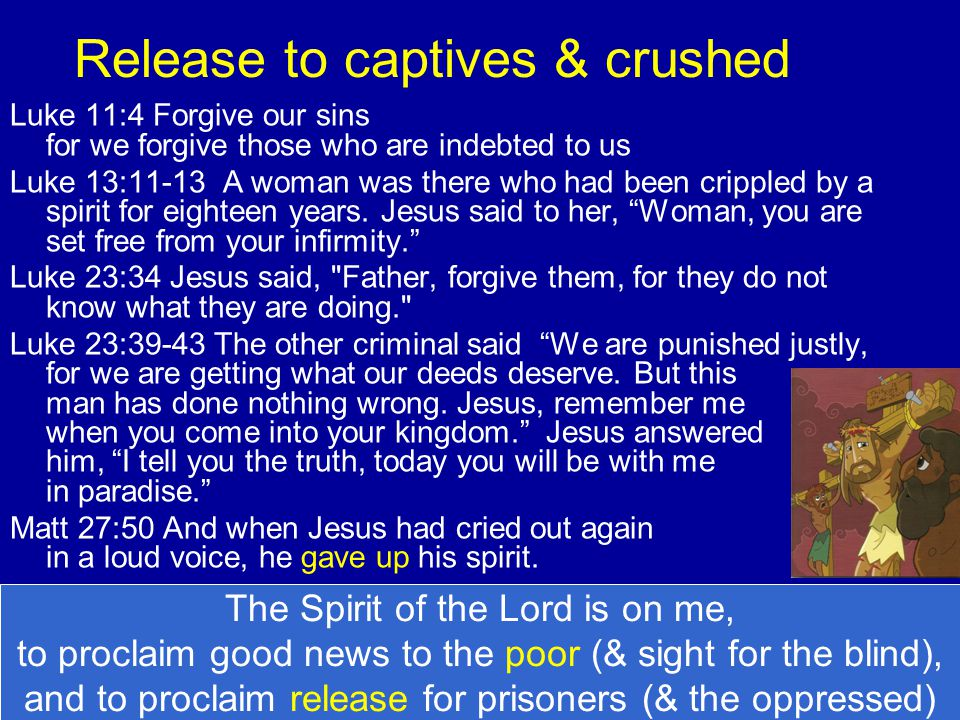 Release to captives & crushed
