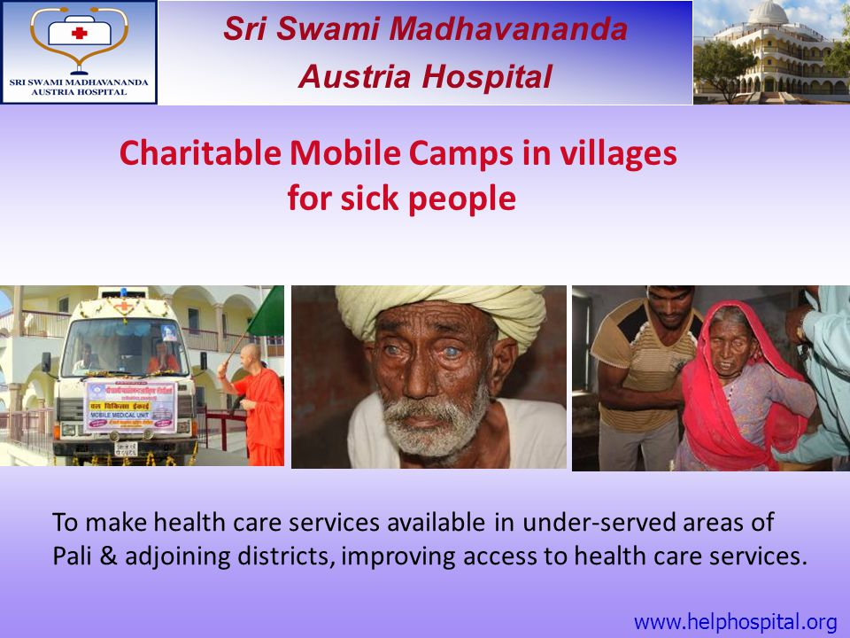 Charitable Mobile Camps in villages