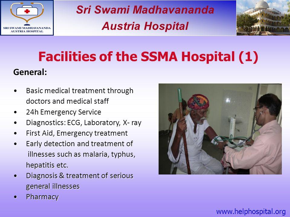 Facilities of the SSMA Hospital (1)