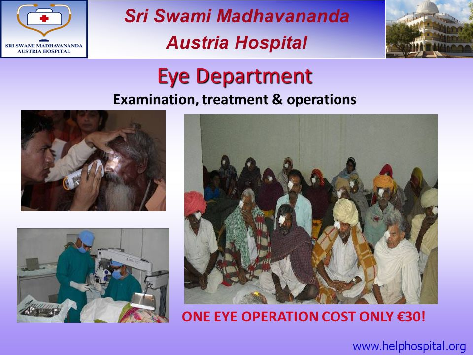 Examination, treatment & operations