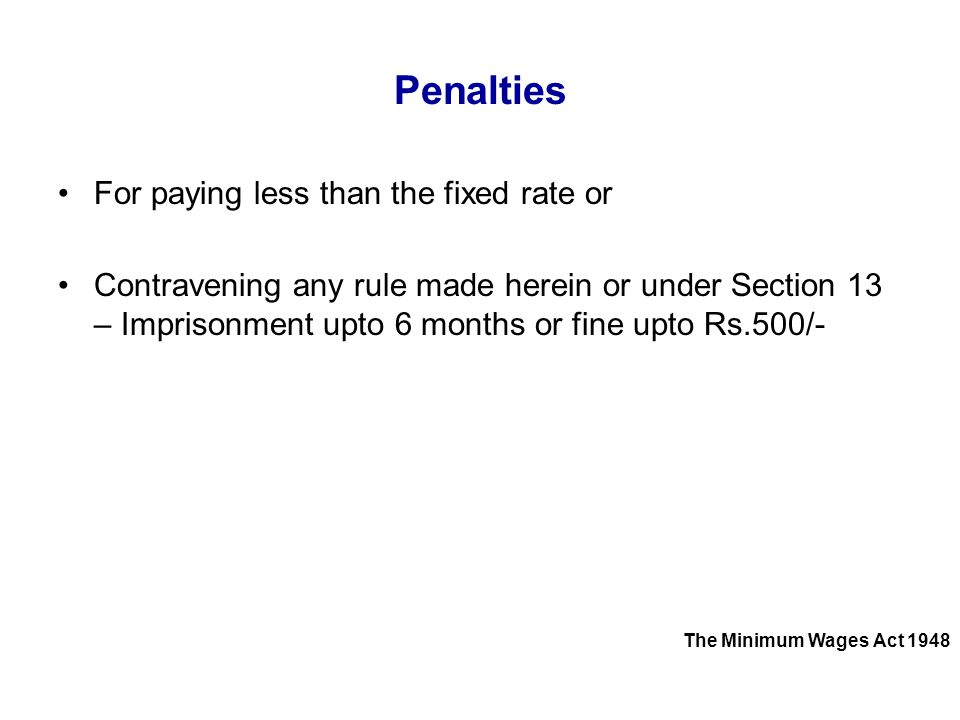 Penalties For paying less than the fixed rate or