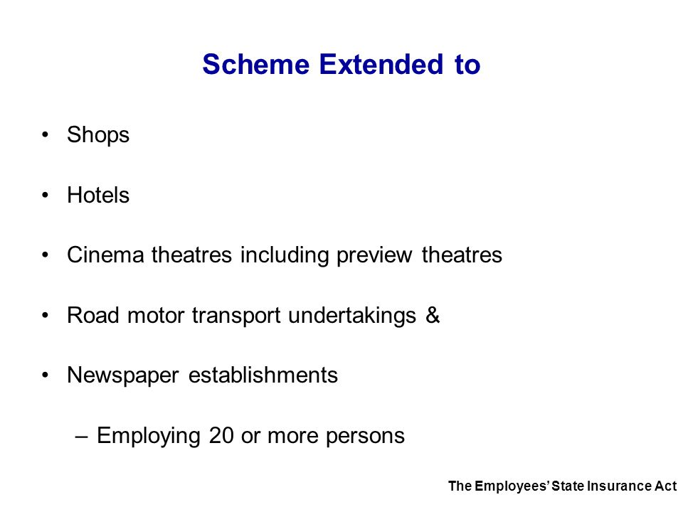 Scheme Extended to Shops Hotels