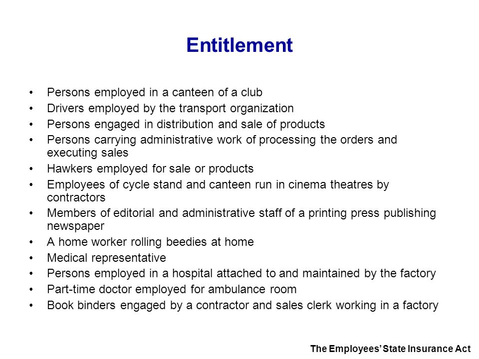 Entitlement Persons employed in a canteen of a club