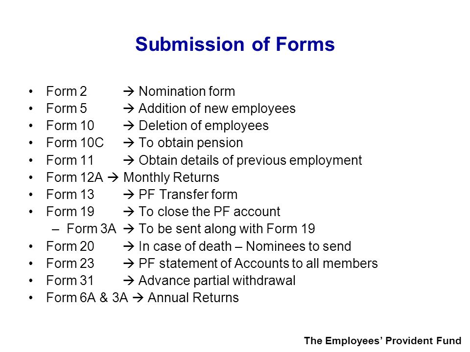 Submission of Forms Form 2  Nomination form