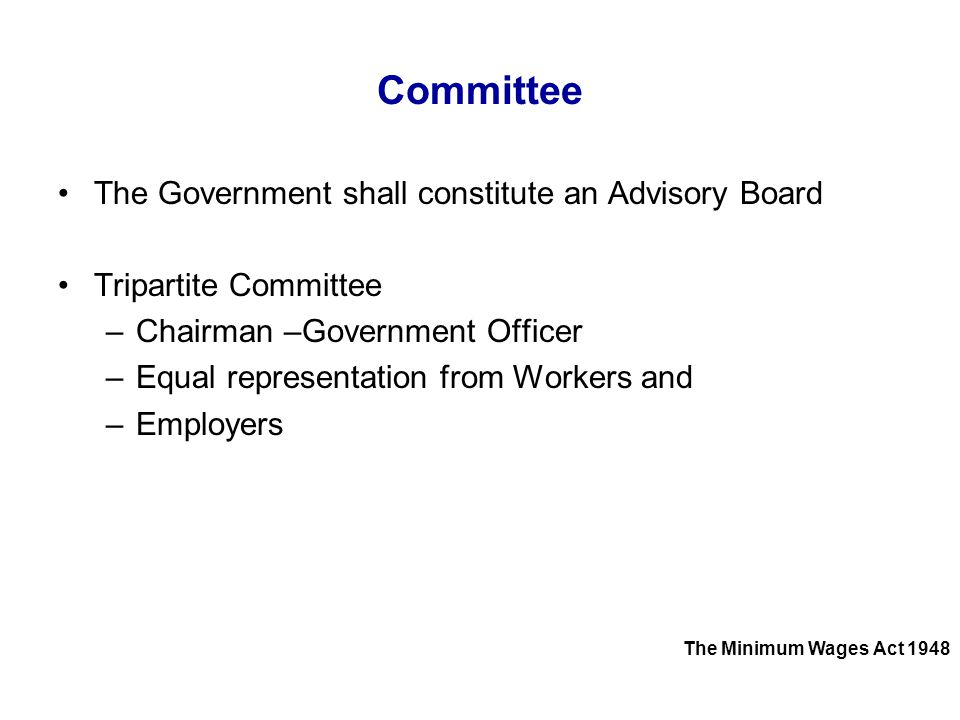Committee The Government shall constitute an Advisory Board