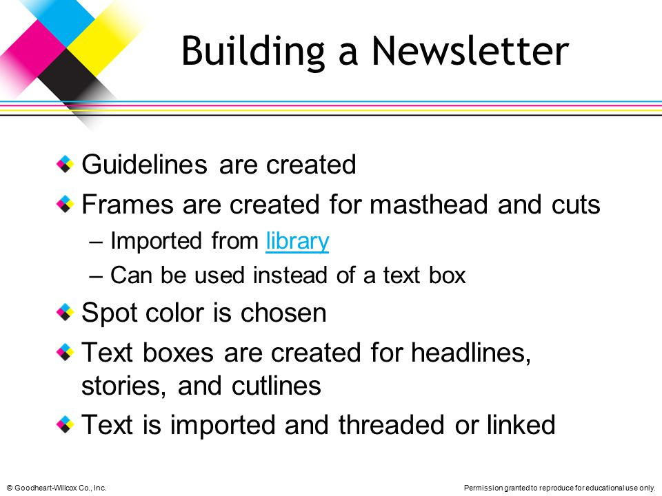 Building a Newsletter Guidelines are created