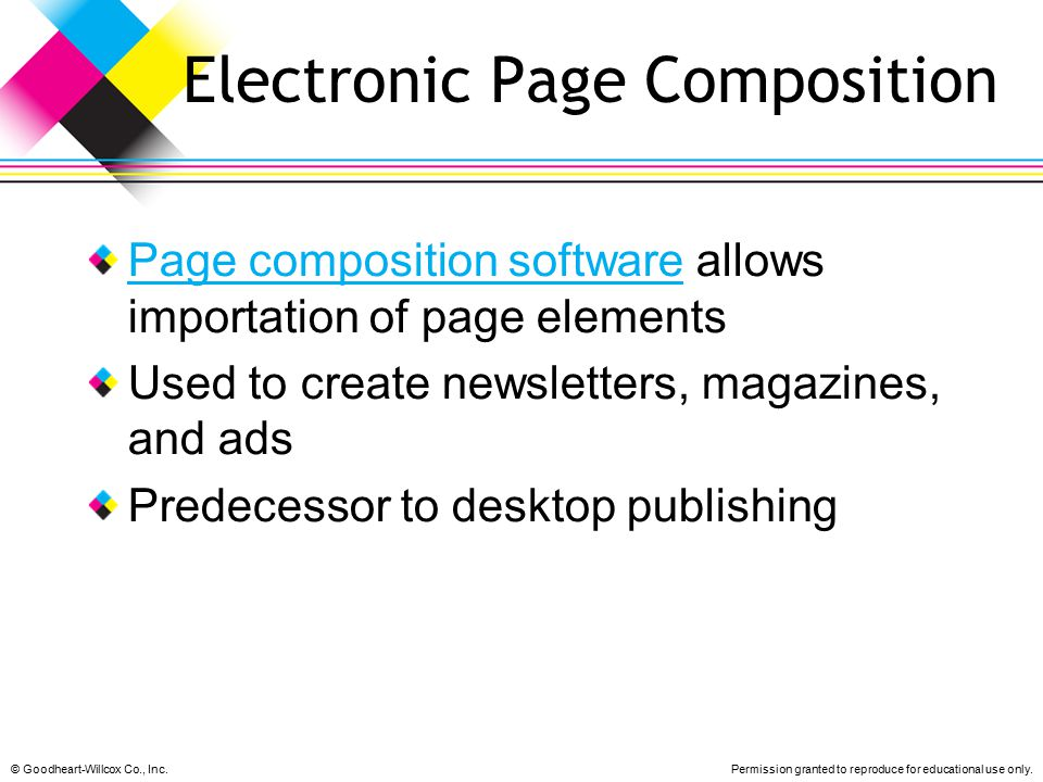 Electronic Page Composition