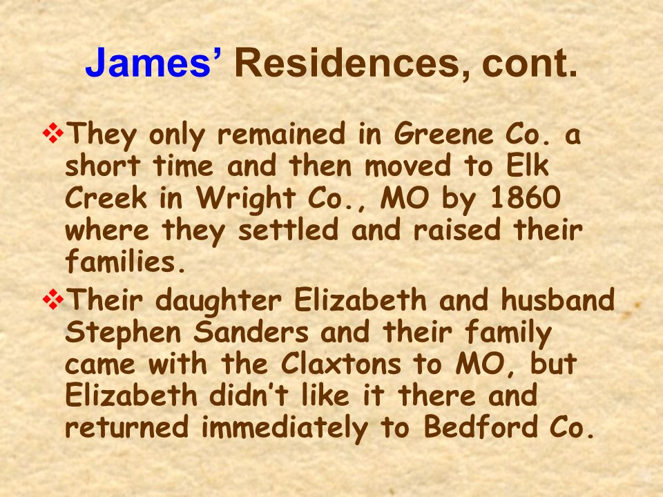 James' Residences, cont.