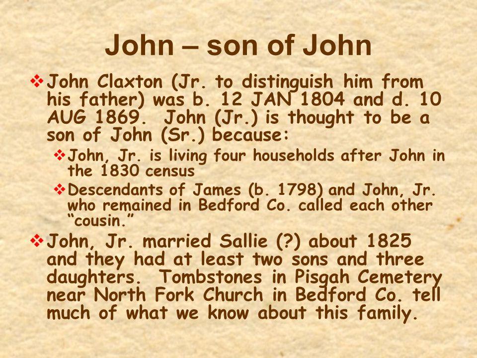 John – son of John