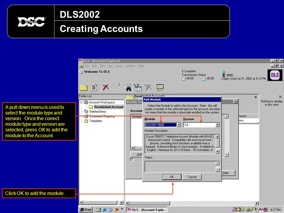DLS2002 Creating Accounts.