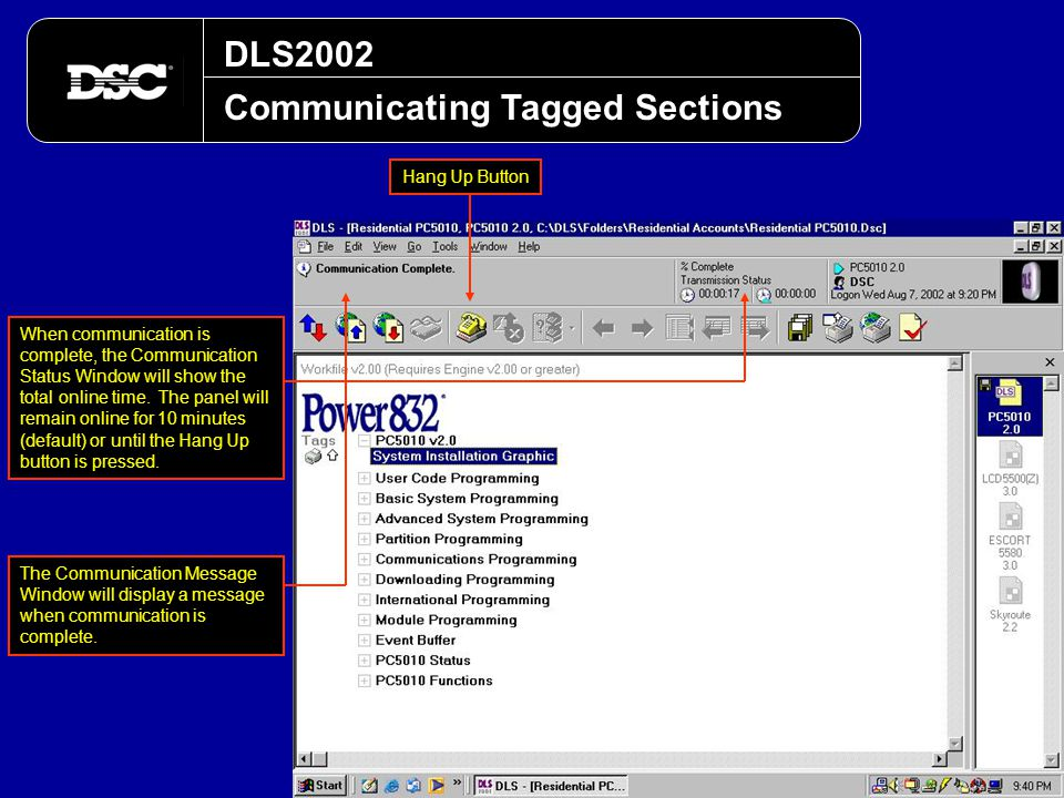 Communicating Tagged Sections