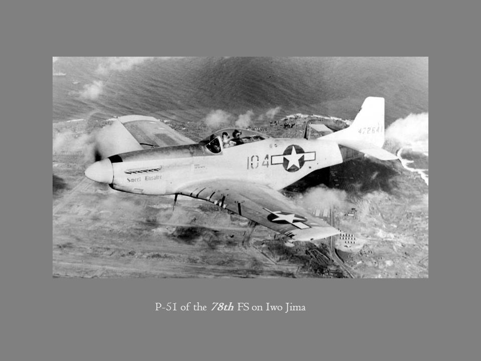 P-51 of the 78th FS on Iwo Jima