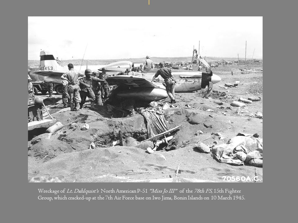 Wreckage of Lt.