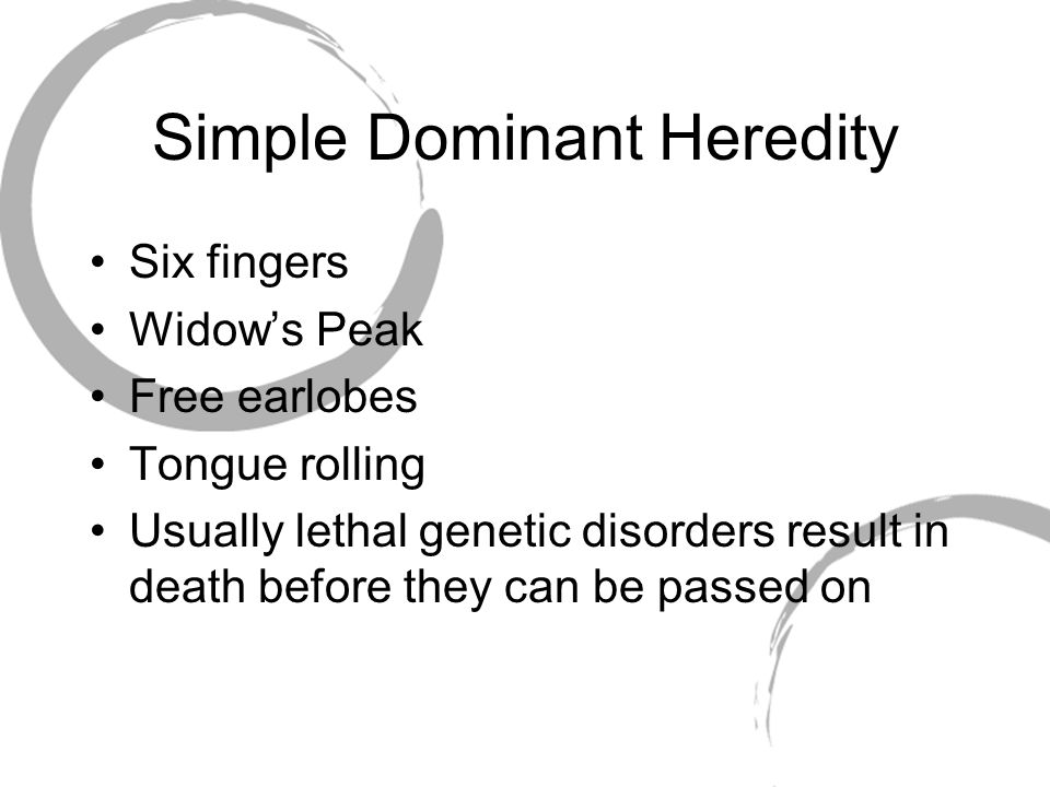 Simple Dominant Heredity