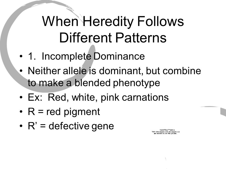 When Heredity Follows Different Patterns